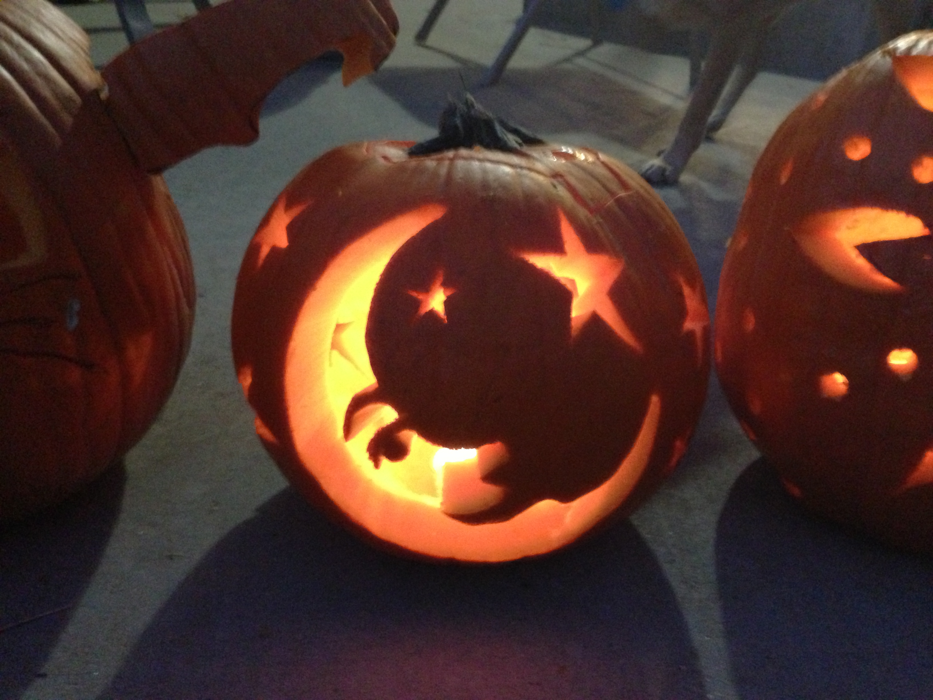 non-halloween pumpkin carving ideas; great to have out thru